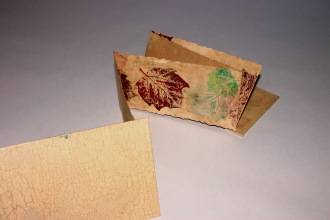 Fall Leaves. Accordion Book with tea stained paper. 2006